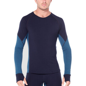 Icebreaker 260 Zone LS Crewe Shirt Men midnight navy/prussian blue